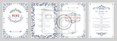 Papiers peints Modèles classiques ornés dans un style vintage. Menu de mariage et de restaurant.