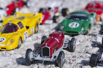Papiers peints Modèles d'une des voitures classiques au soleil