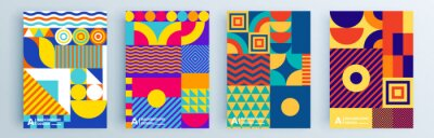 Papiers peints Modern abstract covers set, minimal covers design. Colorful geometric background, vector illustration.