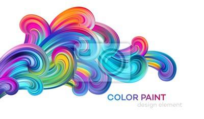 Papiers peints Modern colorful flow poster. Wave Liquid shape color paint. Art design for your design project. Vector illustration