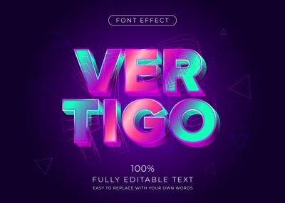 Papiers peints Modern vibrant 3d text effect. Editable font style