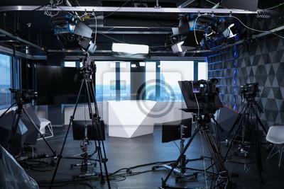 Papiers peints Modern video recording studio with professional cameras