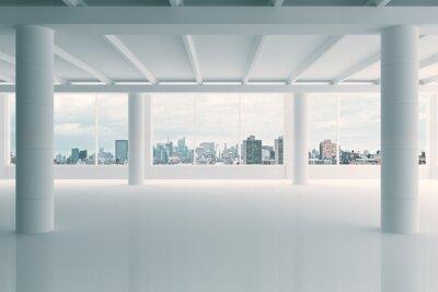 Papiers peints Moderne, blanc, hangar, secteur, ville, vue