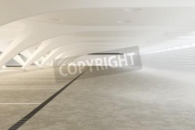 Papiers peints Moderne futuriste abstraite vide intérieur