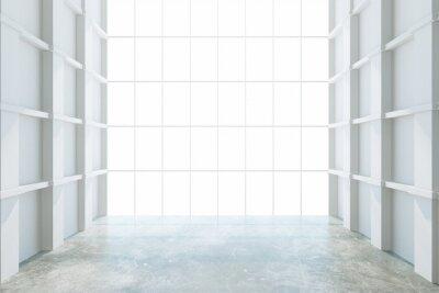 Papiers peints Moderne, vide, salle, grand, fenêtre