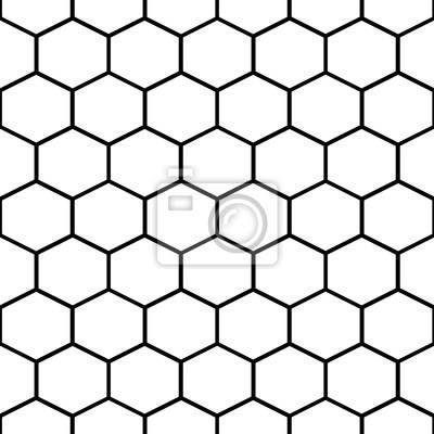 Moelle de miel en forme de vecteur sans vecteur. Fond hexagonal en noir et blanc.