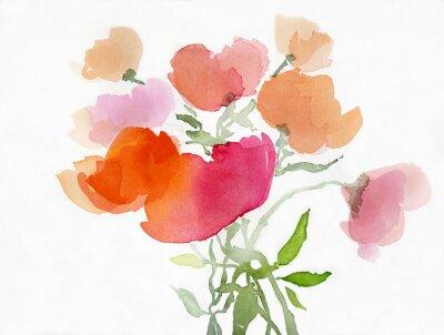 Papiers peints Mohnblumen malerei aquarell