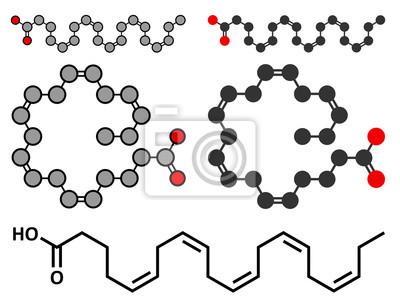1cc43d46428a Papiers peints Molécule d acide eicasapentaénoïque (EPA, acide  timnodonique).