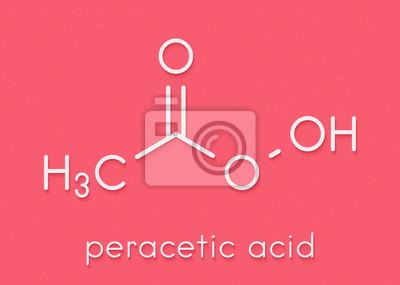 b60e41cccdd2 Papiers peints Molécule désinfectante acide peracétique (acide  peroxyacétique, paa). Peroxyde organique couramment