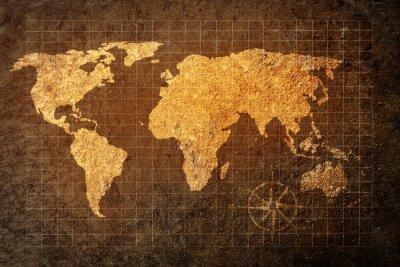Papiers peints Mondiale, carte, grunge, fond
