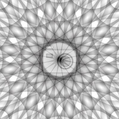 Monochrome vecteur de conception circulaire, décoratif abstrait géométrique