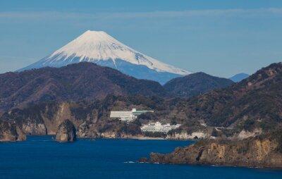 Papiers peints Montagne, Fuji, mer, Izu, ville, Shizuoka, préfecture, Japon