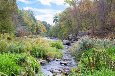 Papiers peints Montagne, rivière, automne
