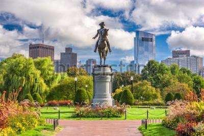 Papiers peints Monument de George Washington au jardin public à Boston, Massachusetts.