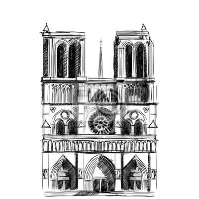 Monument De La Cathédrale Notre Dame De Paris Dans Le Style Du