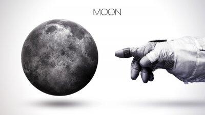 Papiers peints Moon - Planète du système solaire de haute qualité de haute résolution. Toutes les planètes disponibles. Cette image est fournie par la NASA
