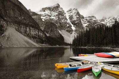 Papiers peints Moraine Lake bateau
