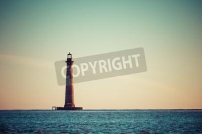 Papiers peints Morris, Île, phare, lever soleil, sud, Caroline, USA