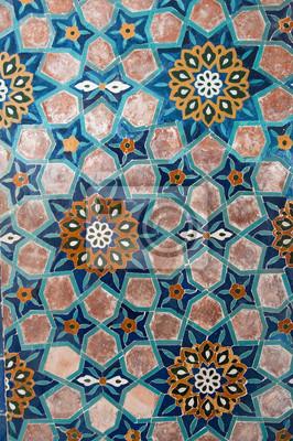 Mosaique En Ceramique mosaïque en céramique ancienne asiatique. éléments dornement papier