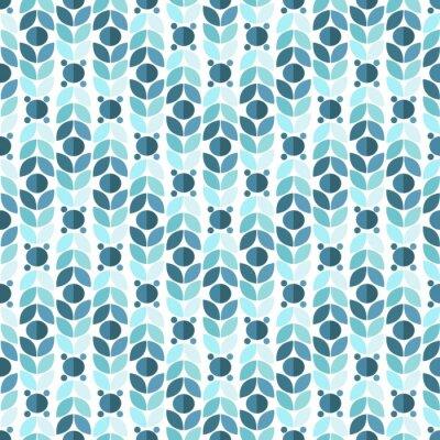Papiers peints Motif bleu géométrique Seamless Retro
