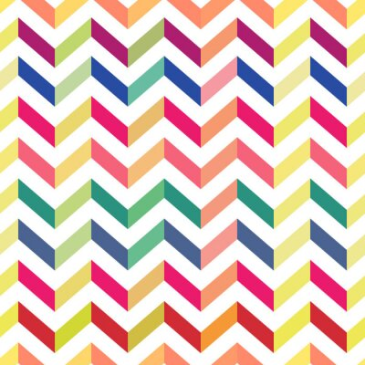 Papiers peints Motif coloré de Chevron coloré. Vecteur