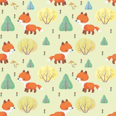 Papiers peints Motif coloré multicolore avec l'image d'un animal mignon de bois. Contexte vectoriel.