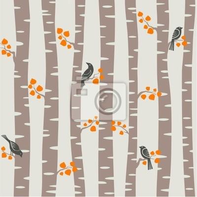motif d'arbres d'automne