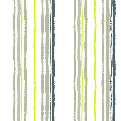Papiers peints Motif de bande sans couture. Lignes verticales avec effet papier déchiré. Briser le fond du bord. Froid gris tendre, olive, couleurs blanches. Thème d'hiver. Vecteur