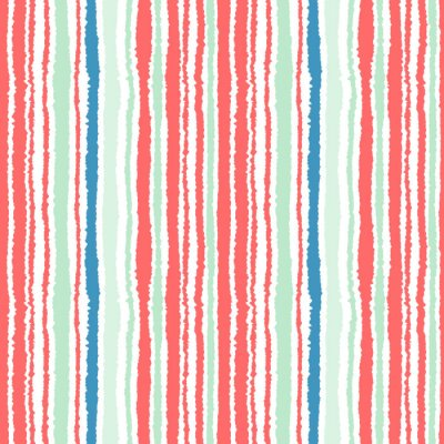 Papiers peints Motif de bande sans couture. Lignes verticales avec effet papier déchiré. Briser le fond du bord. Thème d'hiver. Vecteur