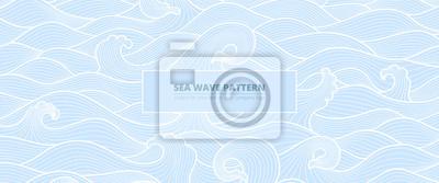 Papiers peints motif de fond bannière longue vague de mer bleue