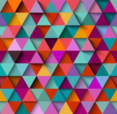 Papiers peints Motif de fond sans couture avec des triangles et des ombres, vecteur eps10