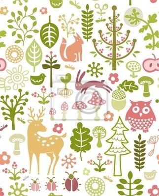 motif de forêt sans soudure