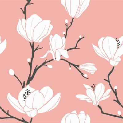 motif de magnolia rose