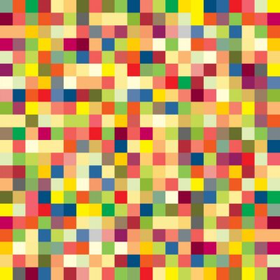 Papiers peints Motif de pixels colorés