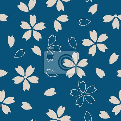 Motif De Sakura Japonais Traditionnel Sans Soudure De Colorant