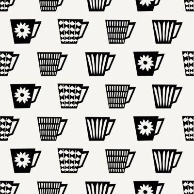 Papiers peints Motif de tasses de café sans couture