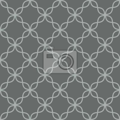 Motif de vecteur gris transparente de quadrilobe. Arrière-plan répétitif géométrique.