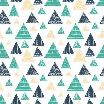 Papiers peints Motif Doodle Triangle Seamless