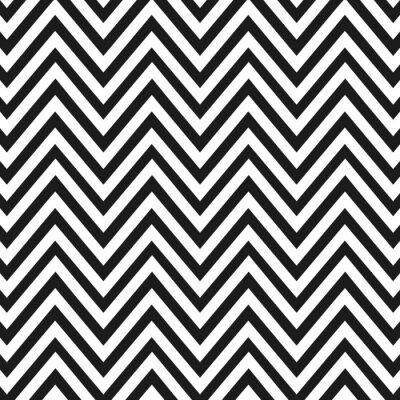 Motif En Zigzag Noir Et Blanc Papier Peint Papiers Peints Zigzag
