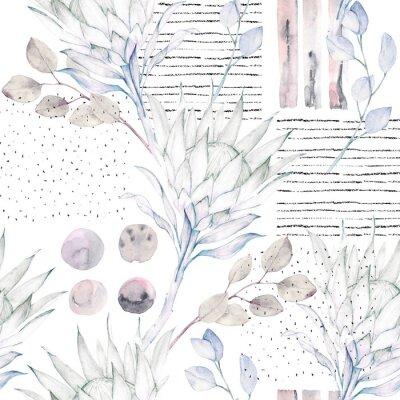 Papiers peints Motif floral sans couture. Fond grunge