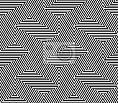 Motif géométrique abstrait des lignes de la grille de la mosaïque de triangle sans soudure. Vecteur Bauhaus tendance moderne de fond