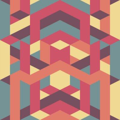 Papiers peints motif géométrique abstrait rétro