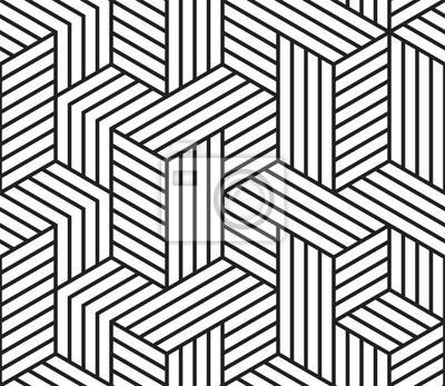 Motif géométrique abstrait vectoriel de motif de lignes de grille de mosaïque sans soudure
