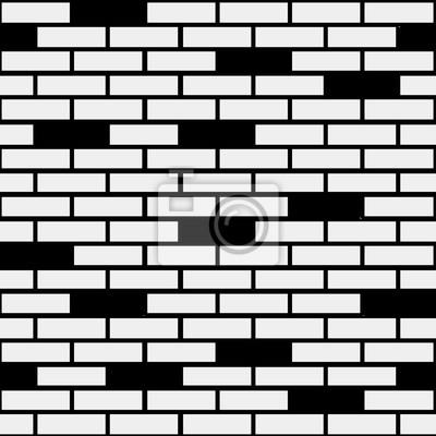Motif Geometrique Minimaliste Noir Et Blanc Brique Peut Etre
