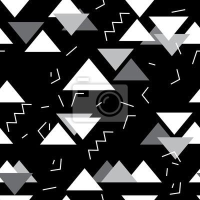 Papiers Peints Motif Géométrique Sans Couture Avec Les Triangles Blancs,  Gris Dans Lu0027art