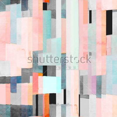 Papiers peints Motif géométrique sans soudure avec des rayons multicolores et des sarcelles. Mode abstrait
