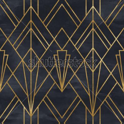 Papiers peints Motif géométrique sans soudure sur la texture du papier. Fond Art Déco