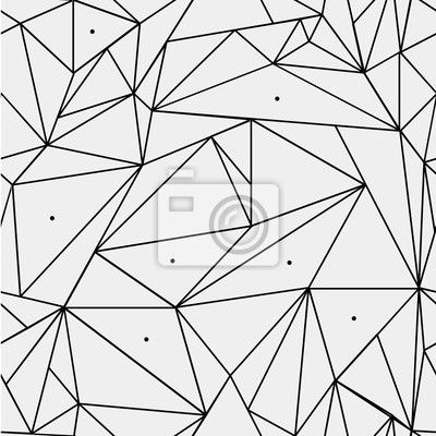 Motif Geometrique Simple Noir Et Blanc Minimaliste Triangles Papier