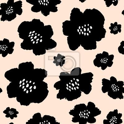 Motif Hand Drawn Fleurs sans couture
