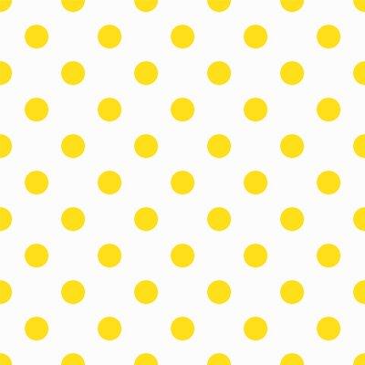 Papiers peints Motif jaune de point de polka